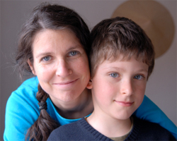 Foster parent with boy